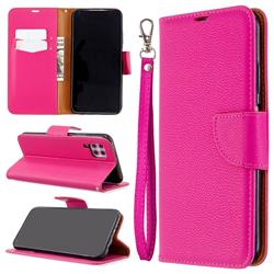 Classic Luxury Litchi Leather Phone Wallet Case for Huawei P40 Lite - Rose