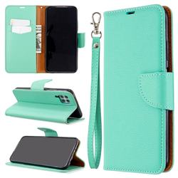 Classic Luxury Litchi Leather Phone Wallet Case for Huawei P40 Lite - Green