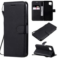 Retro Greek Classic Smooth PU Leather Wallet Phone Case for Huawei P40 Lite - Black