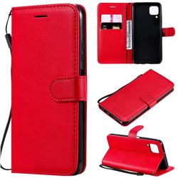 Retro Greek Classic Smooth PU Leather Wallet Phone Case for Huawei P40 Lite - Red
