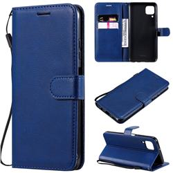 Retro Greek Classic Smooth PU Leather Wallet Phone Case for Huawei P40 Lite - Blue