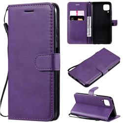 Retro Greek Classic Smooth PU Leather Wallet Phone Case for Huawei P40 Lite - Purple