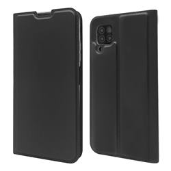 Ultra Slim Card Magnetic Automatic Suction Leather Wallet Case for Huawei P40 Lite - Star Grey