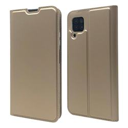 Ultra Slim Card Magnetic Automatic Suction Leather Wallet Case for Huawei P40 Lite - Champagne