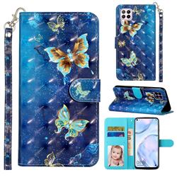 Rankine Butterfly 3D Leather Phone Holster Wallet Case for Huawei P40 Lite
