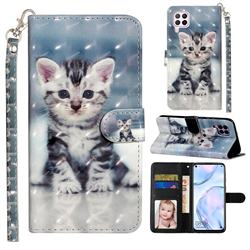 Kitten Cat 3D Leather Phone Holster Wallet Case for Huawei P40 Lite
