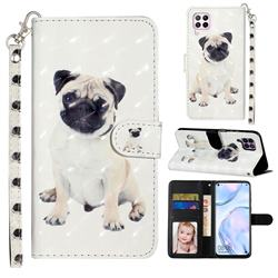 Pug Dog 3D Leather Phone Holster Wallet Case for Huawei P40 Lite
