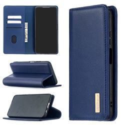 Binfen Color BF06 Luxury Classic Genuine Leather Detachable Magnet Holster Cover for Huawei P40 Lite - Blue