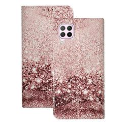 Glittering Rose Gold PU Leather Wallet Case for Huawei P40 Lite