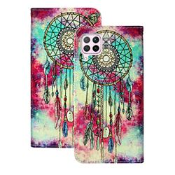 Butterfly Chimes PU Leather Wallet Case for Huawei P40 Lite