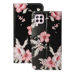 Azalea Flower PU Leather Wallet Case for Huawei P40 Lite