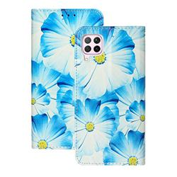 Orchid Flower PU Leather Wallet Case for Huawei P40 Lite