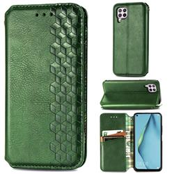 Ultra Slim Fashion Business Card Magnetic Automatic Suction Leather Flip Cover for Huawei P40 Lite - Green