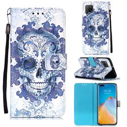 Cloud Kito 3D Painted Leather Wallet Case for Huawei P40 Lite