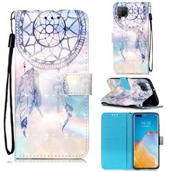 Fantasy Campanula 3D Painted Leather Wallet Case for Huawei P40 Lite