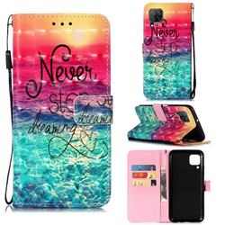 Colorful Dream Catcher 3D Painted Leather Wallet Case for Huawei P40 Lite