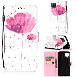 Watercolor 3D Painted Leather Wallet Case for Huawei P40 Lite