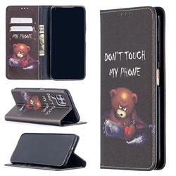 Chainsaw Bear Slim Magnetic Attraction Wallet Flip Cover for Huawei P40 Lite