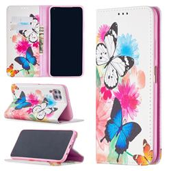 Flying Butterflies Slim Magnetic Attraction Wallet Flip Cover for Huawei P40 Lite