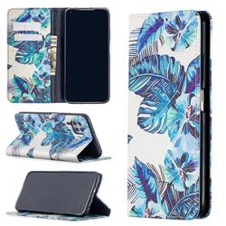 Blue Leaf Slim Magnetic Attraction Wallet Flip Cover for Huawei P40 Lite
