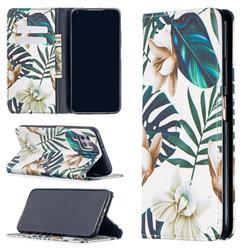 Flower Leaf Slim Magnetic Attraction Wallet Flip Cover for Huawei P40 Lite