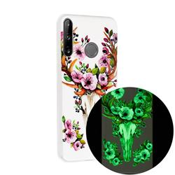 Sika Deer Noctilucent Soft TPU Back Cover for Huawei P40 Lite E