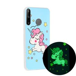 Stars Unicorn Noctilucent Soft TPU Back Cover for Huawei P40 Lite E