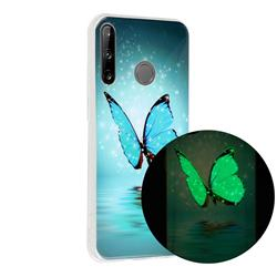 Butterfly Noctilucent Soft TPU Back Cover for Huawei P40 Lite E