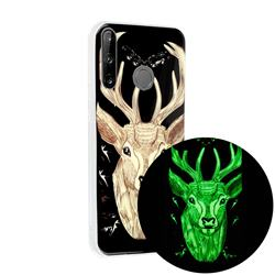 Fly Deer Noctilucent Soft TPU Back Cover for Huawei P40 Lite E