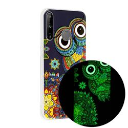 Tribe Owl Noctilucent Soft TPU Back Cover for Huawei P40 Lite E
