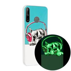Headphone Puppy Noctilucent Soft TPU Back Cover for Huawei P40 Lite E