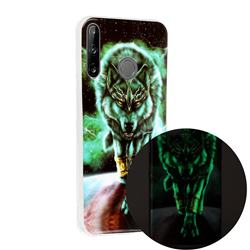 Wolf King Noctilucent Soft TPU Back Cover for Huawei P40 Lite E