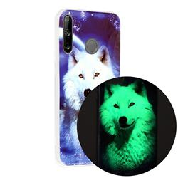 Galaxy Wolf Noctilucent Soft TPU Back Cover for Huawei P40 Lite E