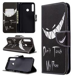 Crooked Grin Leather Wallet Case for Huawei P40 Lite E