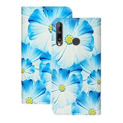 Orchid Flower PU Leather Wallet Case for Huawei P40 Lite E