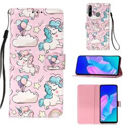 Angel Pony 3D Painted Leather Wallet Case for Huawei P40 Lite E