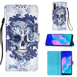 Cloud Kito 3D Painted Leather Wallet Case for Huawei P40 Lite E