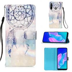 Fantasy Campanula 3D Painted Leather Wallet Case for Huawei P40 Lite E