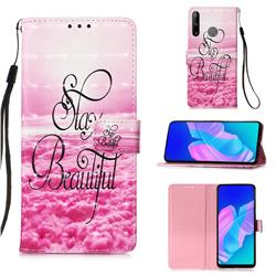 Beautiful 3D Painted Leather Wallet Case for Huawei P40 Lite E
