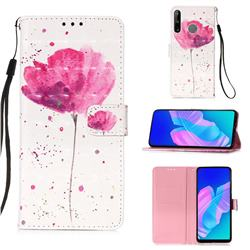 Watercolor 3D Painted Leather Wallet Case for Huawei P40 Lite E