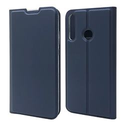 Ultra Slim Card Magnetic Automatic Suction Leather Wallet Case for Huawei P40 Lite E - Royal Blue