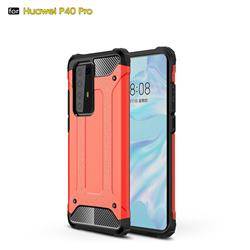 King Kong Armor Premium Shockproof Dual Layer Rugged Hard Cover for Huawei P40 Pro - Big Red