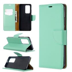 Classic Luxury Litchi Leather Phone Wallet Case for Huawei P40 Pro - Green