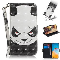 Angry Bear 3D Painted Leather Wallet Phone Case for Huawei P40 Pro