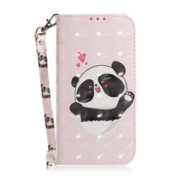 Heart Cat 3D Painted Leather Wallet Phone Case for Huawei P40 Pro