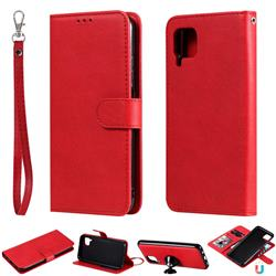 Retro Greek Detachable Magnetic PU Leather Wallet Phone Case for Huawei P40 Pro - Red