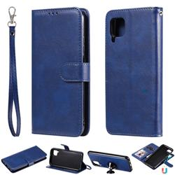 Retro Greek Detachable Magnetic PU Leather Wallet Phone Case for Huawei P40 Pro - Blue