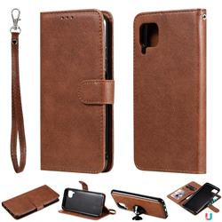 Retro Greek Detachable Magnetic PU Leather Wallet Phone Case for Huawei P40 Pro - Brown
