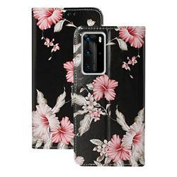Azalea Flower PU Leather Wallet Case for Huawei P40 Pro