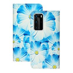 Orchid Flower PU Leather Wallet Case for Huawei P40 Pro
